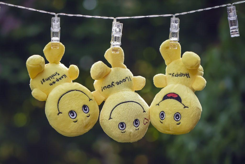 smilies, plush, yellow