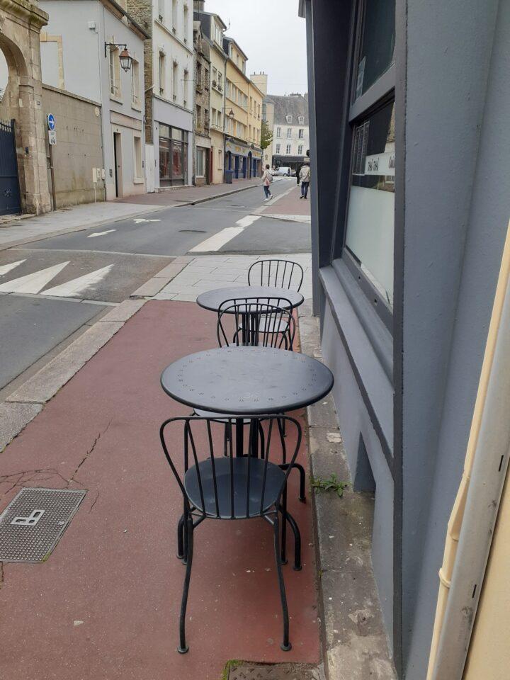 Triste terraza de restaurante