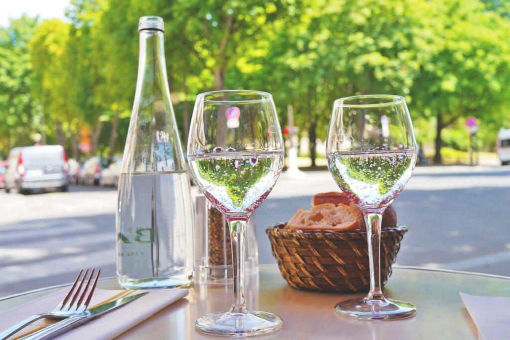 restaurant, street cafe, bread