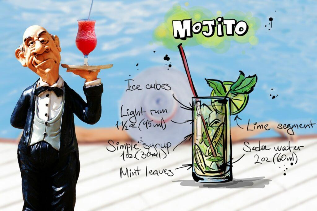 mojito, cocktail, drink
